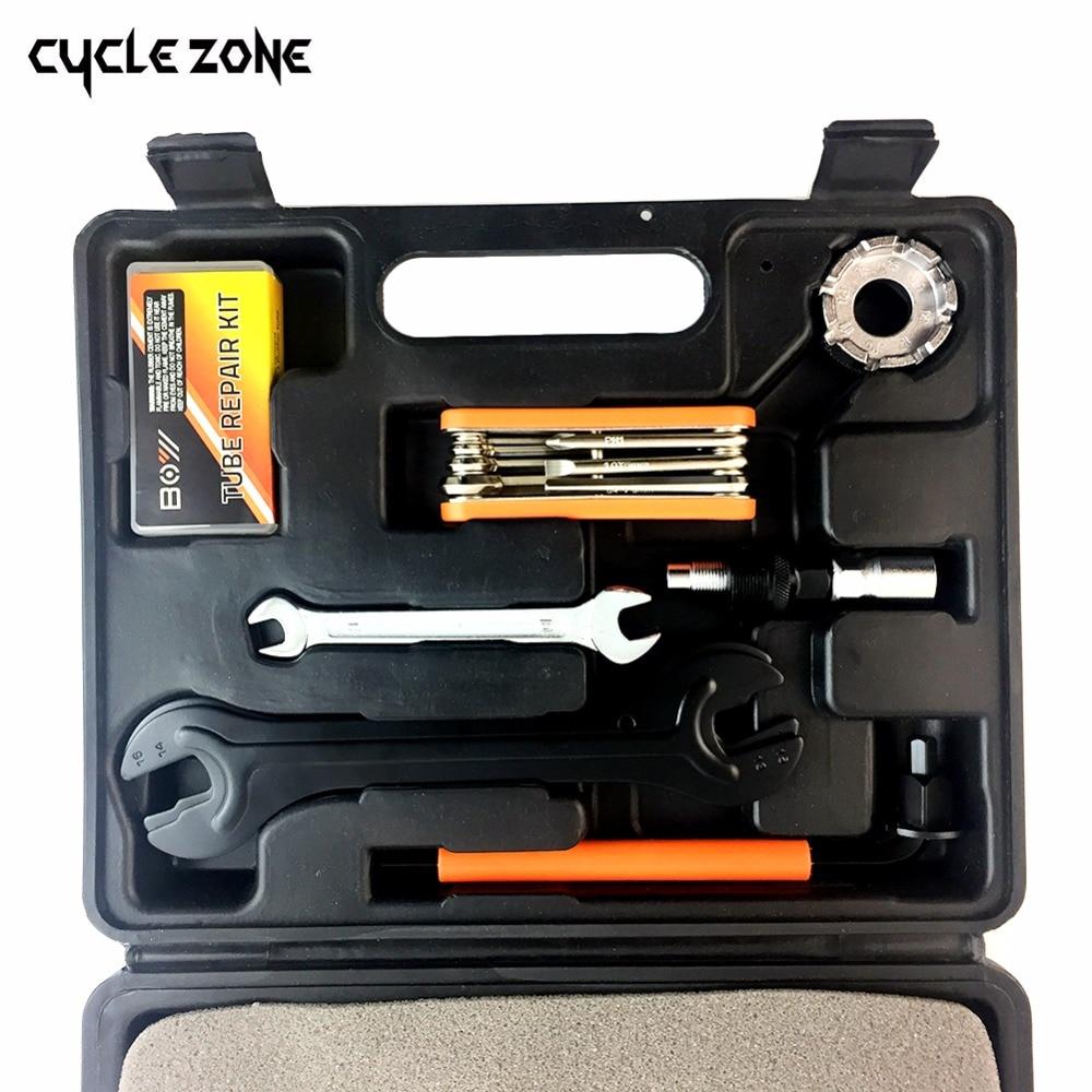 15 pièces/ensemble montagne vélo BIKEHAND Patchs vélo accessoires réparation cas outils de diagnostic Kit cyclisme chaîne boîte - 3