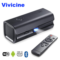 Vivicine Newest Pocket Projector,Android 6.0 Bluetooth 4.0,Smart HDMI USB PC Game Mobile Proyector Beamer