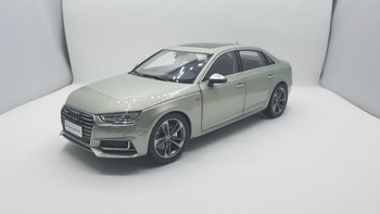 1:18 Diecast Model for Audi A4L 2017 Gold Alloy Toy Car Miniature Collection Gifts A4 S4 image