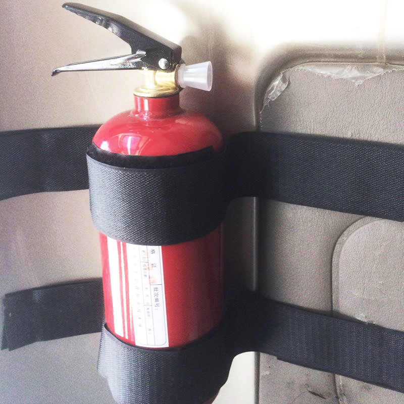 5 adet/takım yangın söndürücü bandaj sabit kemer araba Styling araba Sticker kemer araba gövde saklama çantası sihirli bantlar evrensel