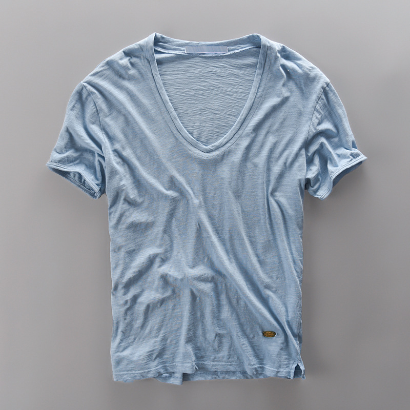 New style 100 bamboo cotton t shirt men short sleeve for 100 cotton dress shirt
