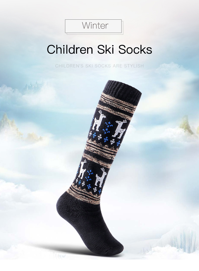 451ebf5a7 2019 Thicken Cotton Skiing Socks Children Kids Winter Sports Socks ...