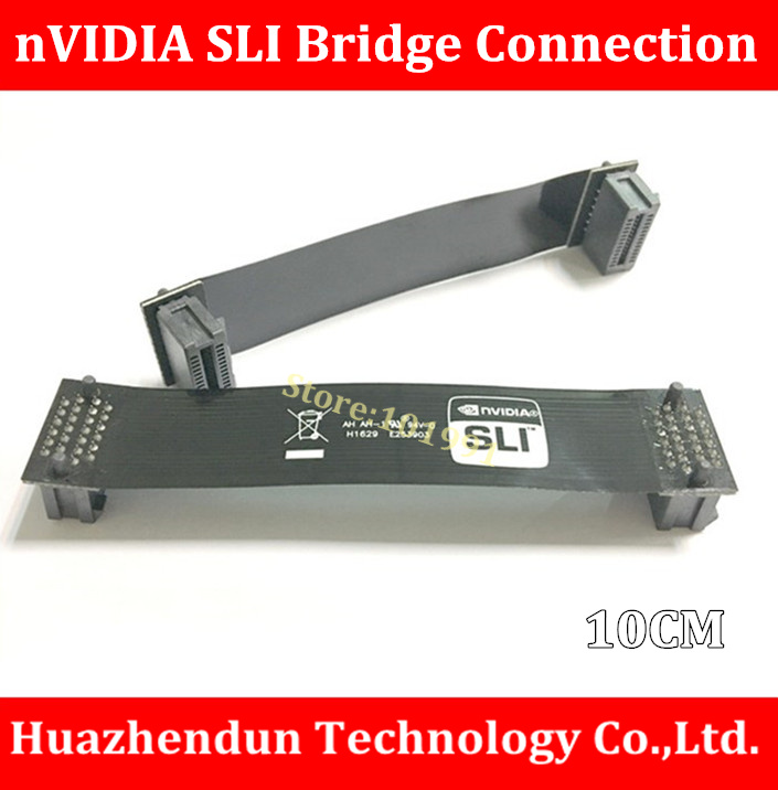 Free Shipping  2PCS/LOT nVidia Card  SLI Bridge PCI-E Graphics  Connector  10CM Bridge connection for Video Card 4pin mgt8012yr w20 graphics card fan vga cooler for xfx gts250 gs 250x ydf5 gts260 video card cooling
