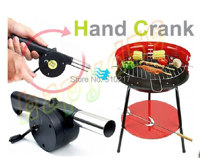 50pcs BBQ hand fan starter blower Barbecue grill fire cranked outdoor picnic camping BBQ Barbecue tool fan Blower hand crank