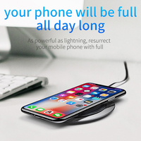 Baseus Metal Age Wireless charger 10W Qi Wireless Charger Desktop Wireless Charging pad for Samsung Galaxy S9 Note 9 iPhone X 8 1