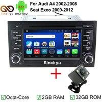 1024*600 4G LTE Android 6.0 Octa Core CPU 2 GB RAM Auto Dvd-speler Voor Audi A4 2002-2007 Seat Exeo 2009-2012 Radio GPS navigatie