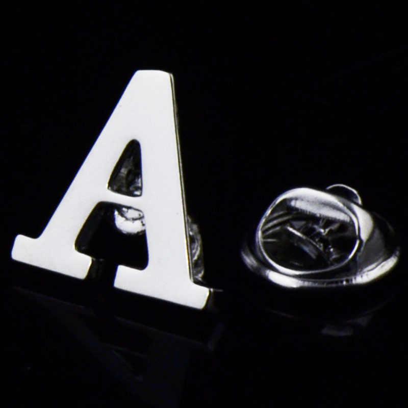 2019 новые высококачественные Броши с отворотами Буквы A до Z модная Начальная брошь в форме буквы шпильки костюм Значки для женщин и мужчин ювелирные изделия