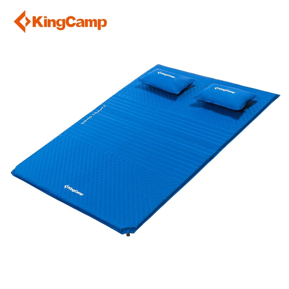 KingCamp Double Camping Mat Comfort Mattress Self Inflating damp proof 2 Person Camping mat with pillows
