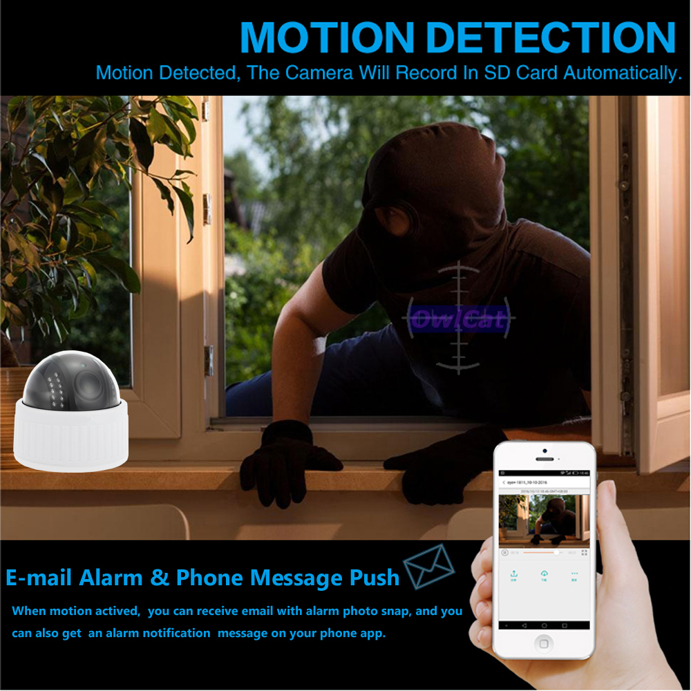 motion and email alarm