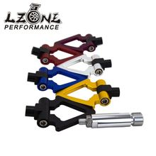LZONE RACING - JDM Screw Aluminum CNC Triangle Ring Tow Towing Hook JDM RACE For LEXUS ES 2006+ JR013
