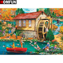 HOMFUN Full Square/Round Drill 5D DIY Diamond Painting House landscape Embroidery Cross Stitch 5D Home Decor Gift A18103 homfun full square round drill 5d diy diamond painting house landscape embroidery cross stitch 5d home decor gift a18092