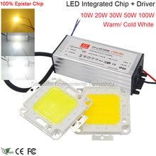 100V 220V AC COB LED Light Bulb 10W 20W 30W 50W Super Bright Light Source Chip for Floodlight Spotlight Outdoor Indoor Lighting