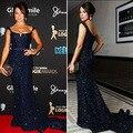 Kate Ritchie azul Red querida sereia lantejoulas vestido de noite celebridade BO4165