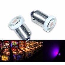 PA Máquina de Pinball Lâmpada LED 10 PCS x LED #1893 #44 #47 #1847 BA9S 1SMD 5050 AC DC 6.3 V Roxo DIODO EMISSOR de luz