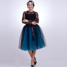 High Quality Midi Mesh Women tulle skirt Cute Ball Gown Tutu Dance Stage Female Lady Skirts Sashes Elegant Cosplay Skirt Vestido