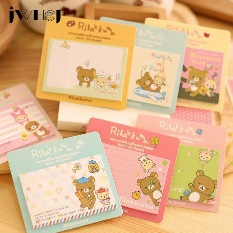 2 pcs/lot children like Cute bear memo pad paper sticky notes post notepad stationery papeleria school supplies