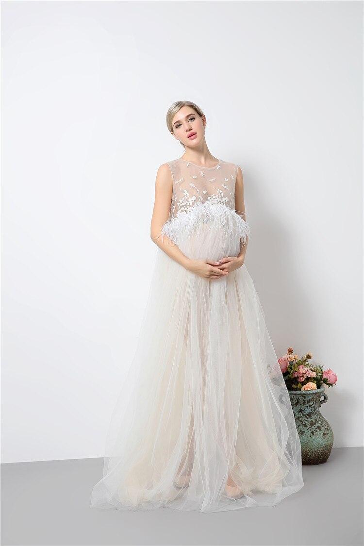 Mode snörning moderskapsklänningar långa moderskap fotografi - Graviditet och moderskap - Foto 6