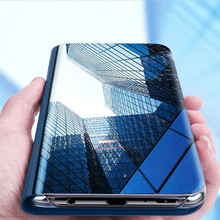 Luxury Clear View Smart Mirror Phone Case For iphone 6 6s Plus XR XS MAX X 8 7 5 5S SE Cases Flip Stand Leather Cover Holder цена и фото