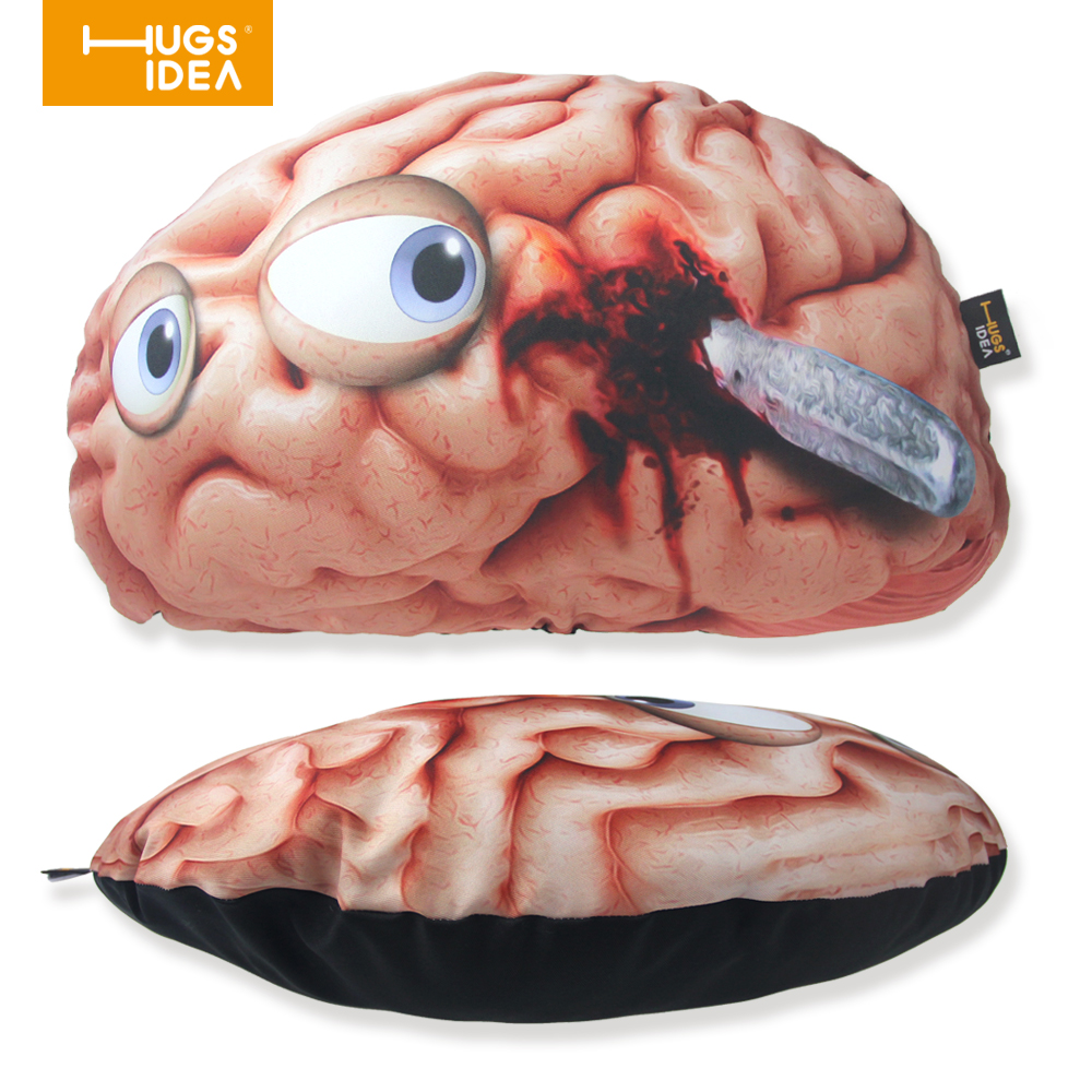 HUGSIDEA Human Brains Shaped Home Decorative Cushion Unique 3D Design Chair  Bed Rest Pollow Kids Gifts Seat Back CushionS Cojin In Bedding Pillows From  Home ...