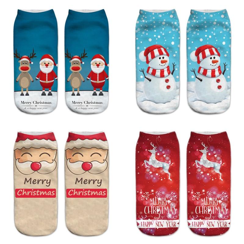 Dreamlikelin Merry Christmas Happy New Year Socks Fashion Christmas Tree Santa Claus Snowman Cartoon Christmas Deer Sock