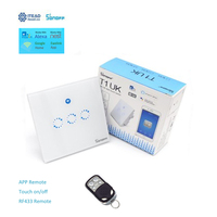 Sonoff T1 3 Gang Smart WiFi Wall Touch RF 86 Type UK Light Switch Smart Home