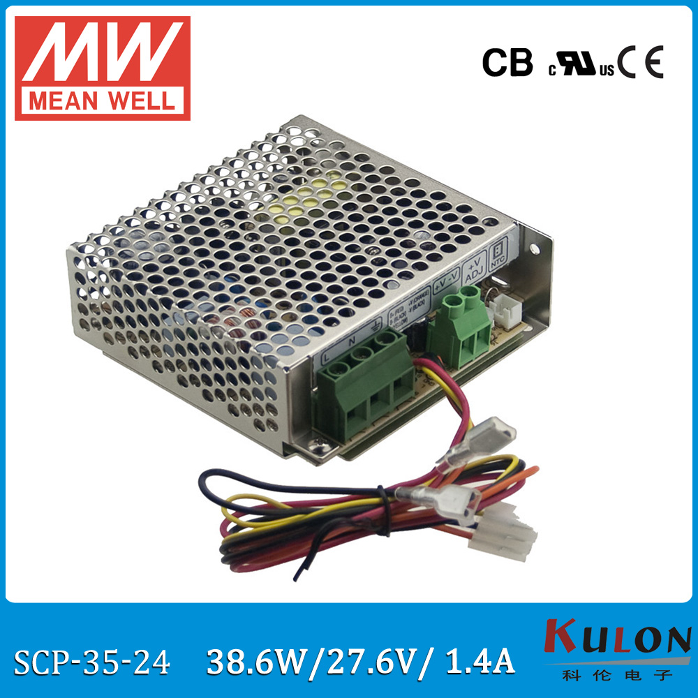 Original MEAN WELL SCP-35-24 27.6V 1.4A 38.6W temperature compensation security power supply for battery backup system SCP-35 аккумулятор для мобильных телефонов kyocera scp 40lbps scp 40lbps