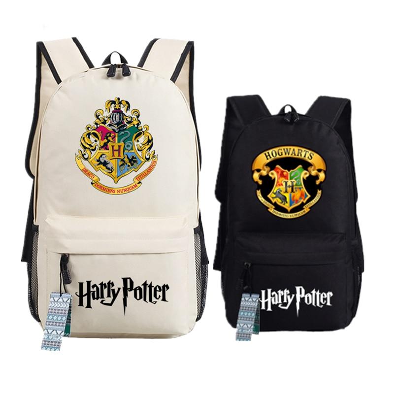 2017 Hot Harry Potter HOGWARTS Draco dormiens nunquam titillandus Canvas School Bags Printing Laptop Backpack Mochila Feminina