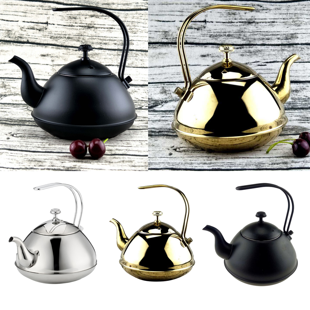 2L Tea Kettle Coffee Pot Stainless Steel Stovetop Teapot Stove Teakettles Eternal Modern Style Tea Kettle Teaware Dining Tool