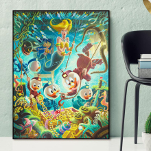 Scrooge McDuck With Donald Under The Sea Canvas Painting Print Bedroom Home Decor Modern Wall Art Oil Poster Pictures