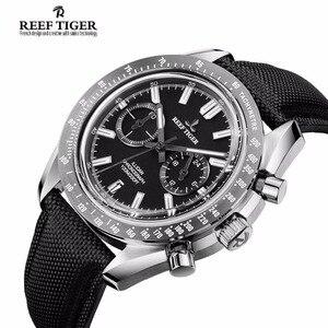 Image 3 - Reef Tiger/RT Reloj de marca de diseñador para hombre, con cronógrafo, fecha, superluminoso, correa de nailon, RGA3033, novedad de 2020