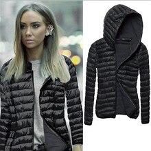 Новинка 2017 г. зимнее пальто Для женщин с длинным рукавом зимние пальто с капюшоном куртка на молнии пуховик Для женщин куртка casaco feminino Для женщин пальто из основной коллекции