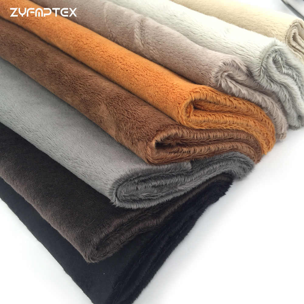 ZYFMPTEX 45x50cm Pile Length 3mm Soft Short Plush Handwork DIY Doll Winter Clothes Thickness Antipilling Plush Fabric 40 colors