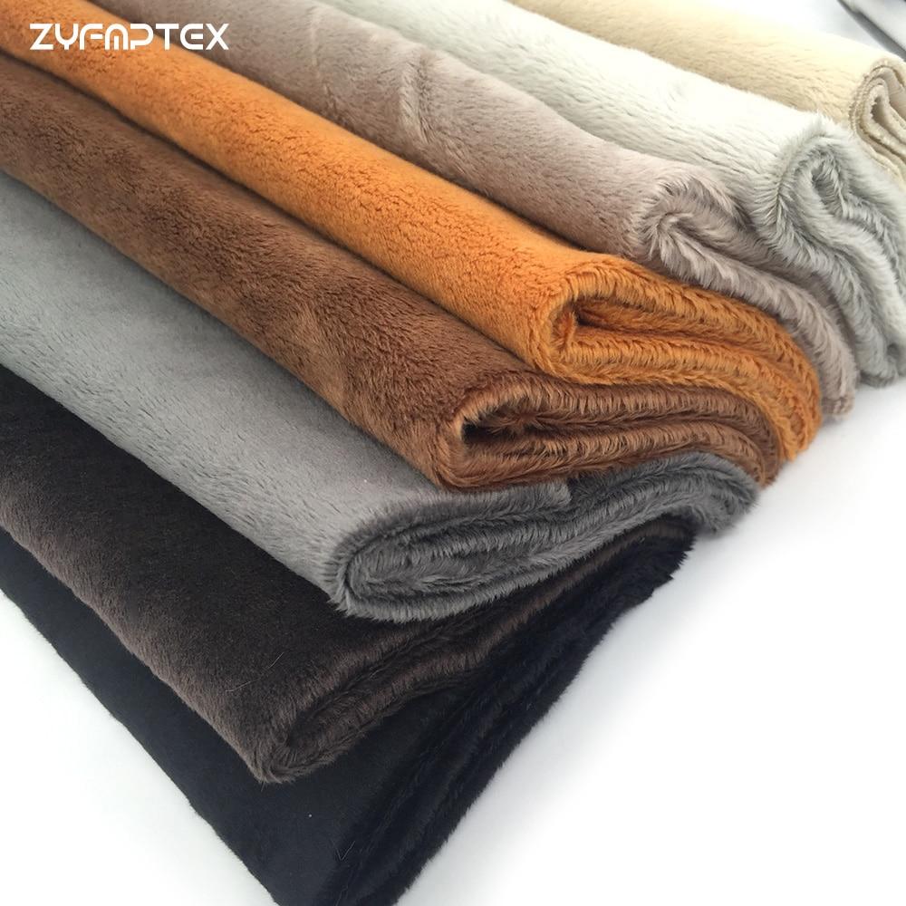 ZYFMPTEX 45x50cm Pile Length 3mm Soft Short Plush Handwork DIY Doll Winter Clothes Thickness Antipilling Plush Fabric 40 colors