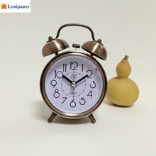 lumiparty classic vintage silent night led light bell alarm clock lazy bedside desk clock christmas gift