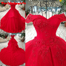 9884 Classic Red Alluring Ball Gown Evening Dress With