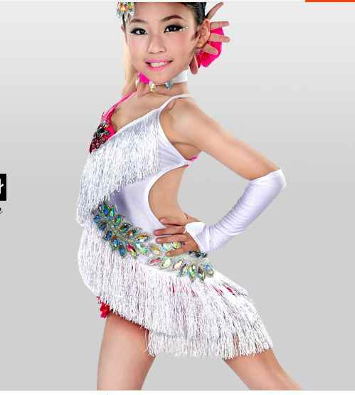 Children 's Latin dance dress children' s women succumba competition clothing dress girls girls diamond dress