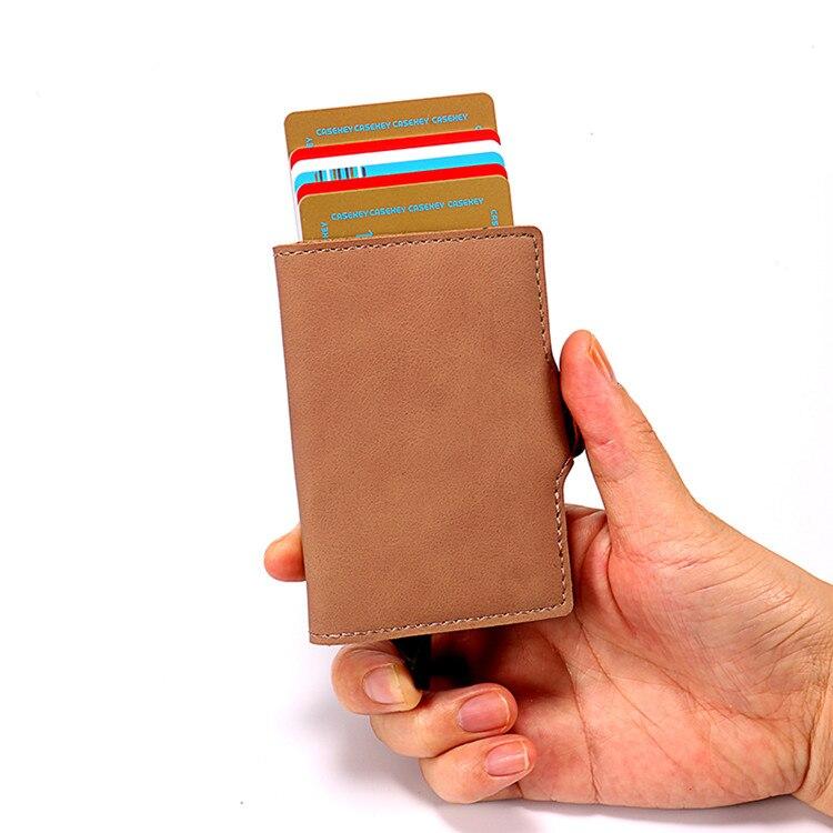 RFID PROTECTED SLIM Vera pelle porta carte di credito//Portafoglio RRP £ 15.00