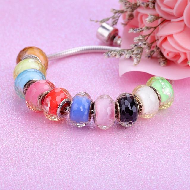 European Colorful Lampwork Glass  Murano Aolly Charm Bead Fit Pandora For Girl DIY Bracelets & Bangles 4
