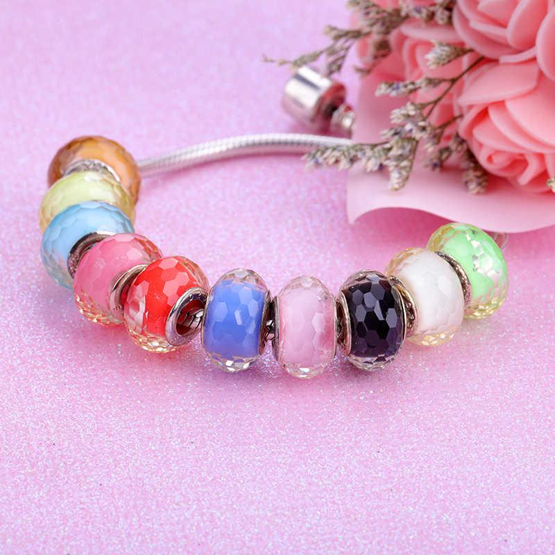 2019 nuevas cuentas europeas coloridas de cristal Murano Aolly abalorio ajuste Pandora para chica DIY pulseras brazaletes de joyería de mujer
