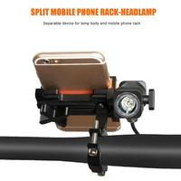 Bicycle Phone Holder Universal Motorcycle Bike Handlebar Clip Stand GPS Mount Bracket with Lamp Outdoor Cycling Part Equipment