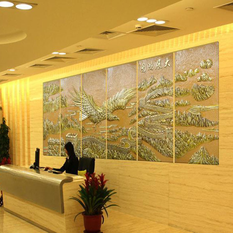 High end three dimensional relief decorative painting hotel room ...