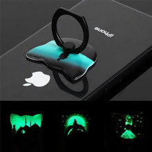 Phone Grip model luminous mobile phone lazy cat head buckle for phones 360 Degree Rotating Luminous Finger Ring
