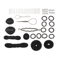 T2N2 Hair Bun Clip Maker Pads Hairpins Roller Braid Twist Sponge Braid Maintenance Styling Accessories Tools Kit