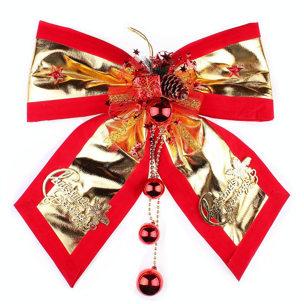 Christmas decorations bells large bow diy