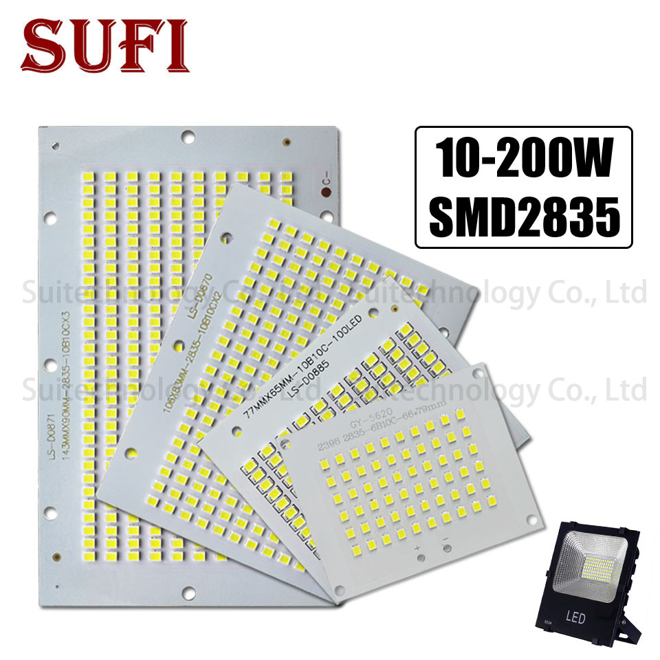 LED Floodlight 10W 20W 30W 50W 100W 150W 200W Full Power Led PCB Board SMD2835 For Floodlight Retrofit, Light Source Replacement