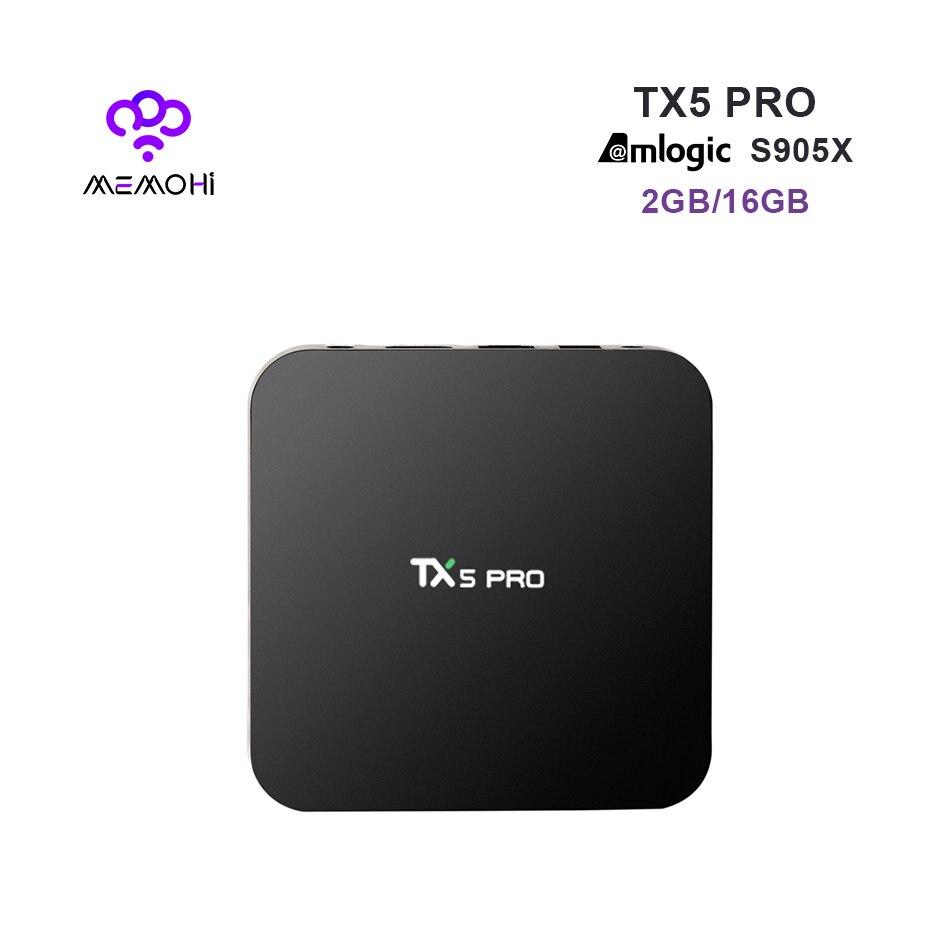 Prix pour 10 PCS MEMOBOX TX5 Pro TV Box Android 6.0 2G/16G Amlogic S905X Quad Core 4 K Double Bande WiFi BT 4.0 KODI DLNA Set-top boîte