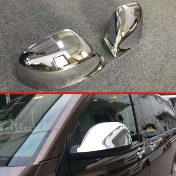 For VW Volkswagen Transporter (T6) Caravelle 2017 2018 ABS Chrome Door Side Mirror Cover Trim Rear View Cap Overlay Molding