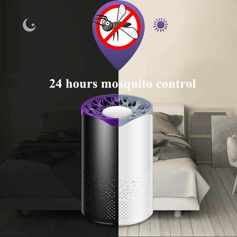 Usb питание Жук Zapper светодиодный ловушка вредителей наклейка от комаров лампа ловушка для насекомых убийца УФ ночной Электрический комаров