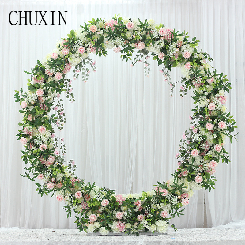 Artificial flower Rose Row Hotel Wedding Wall Decoration Fake Flower Home Party Arches Festival Celebration Accessories