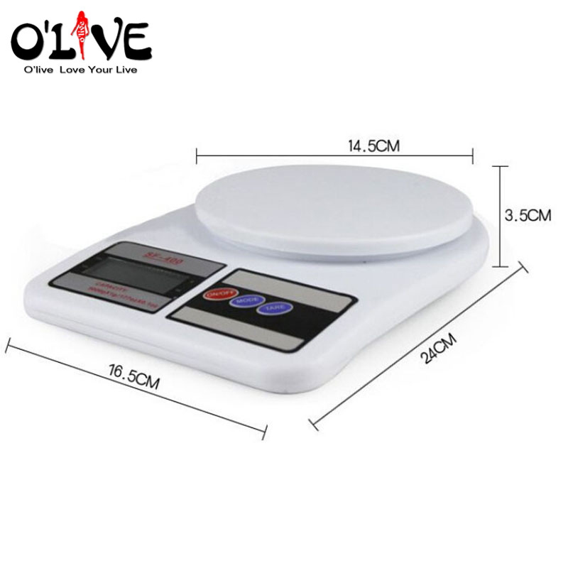 10kg digital kitchen scales electronic kitchen food baking scales measure weight scale medicinal materials kitchen gadgets in kitchen scales from home - Digital Kitchen Scale